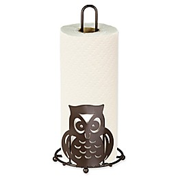 Home Basics® Owl Paper Towel Holder in Bronze