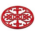 Home Basics® Fleur de Lis Trivet in Red