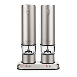 Cuisinart® Rechargeable Electric Salt & Pepper Mill Set in Brushed Stainless Steel