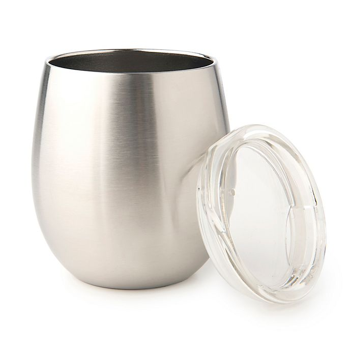 Alternate image 1 for U Konserve Insulated Tumbler Wine Glass in Stainless Steel