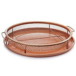 Gotham™ Steel Ti-Cerama™ Nonstick 2-Piece 12-Inch Round Copper Crisper Tray Set