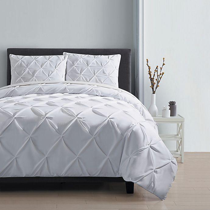 Alternate image 1 for VCNY Home Carmen 3-Piece King Duvet Cover Set in White