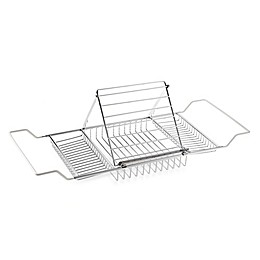 Jumbo Chrome-Plated Bathtub Caddy
