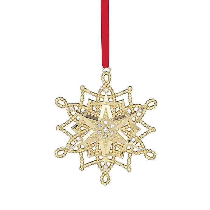 Alternate image 1 for Lenox® 2017 Golden Snowflake Christmas Ornament