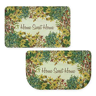 Bacova Sweet Home Memory Foam Kitchen Mat in Yellow