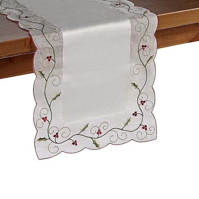 buy holly berry 36 inch table runner from bed bath beyond. Black Bedroom Furniture Sets. Home Design Ideas