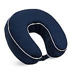 World's Best™ Memory Foam U-Shaped Neck Pillow in Navy