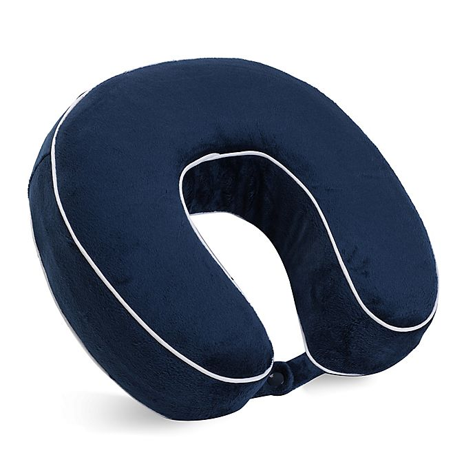 Alternate image 1 for World's Best™ Memory Foam U-Shaped Neck Pillow in Navy