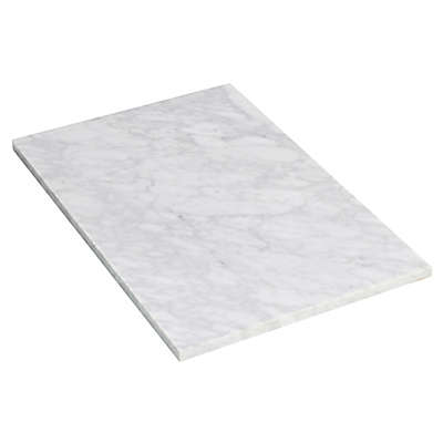 Flair Bianca Carara Marble Top for 8-Inch Faucet in White