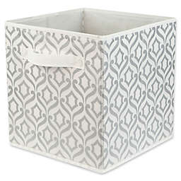 Relaxed Living 11-Inch Fabric Storage Bin in Metallic Silver
