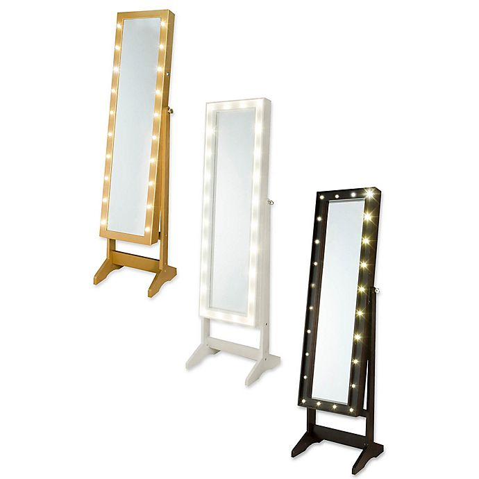 Alternate image 1 for Cheval Freestanding Jewelry Armoire with LED Lights