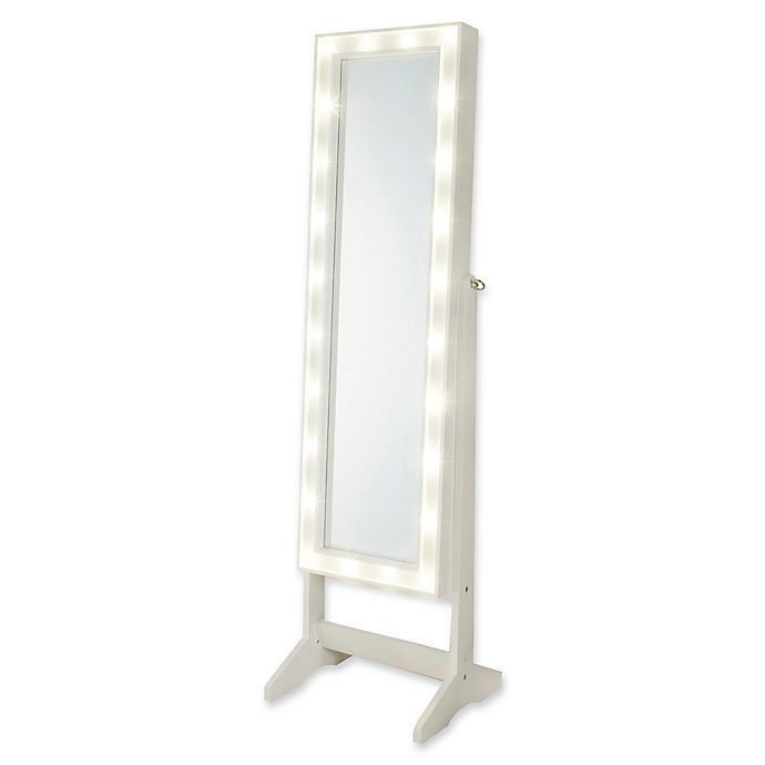Alternate image 1 for Cheval Freestanding Jewelry Armoire with LED Lights in White