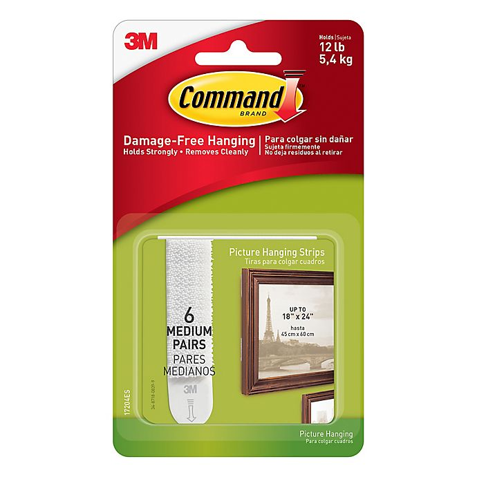 Alternate image 1 for 3M Command™ Medium Picture Hanging Strips (Set of 6)