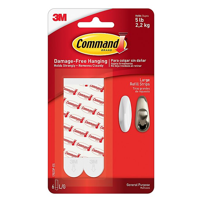 Alternate image 1 for 3M Command™ Large Refill Strips (Set of 6)