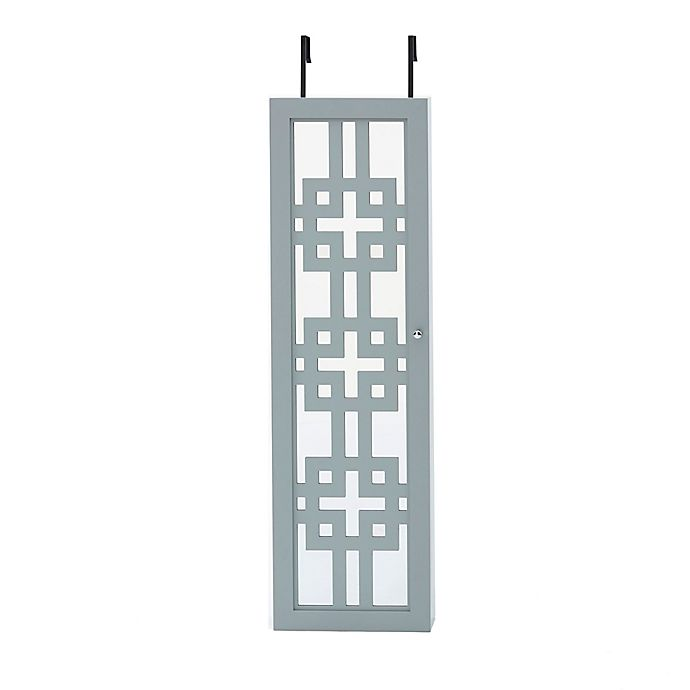 Designer Jewelry Armoire In Grey Bed Bath Amp Beyond
