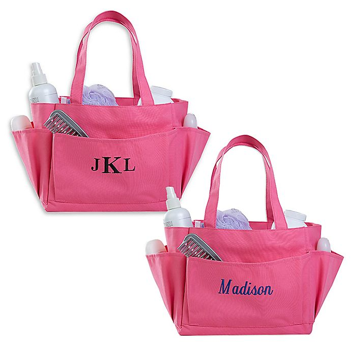 Alternate image 1 for Pink Perfection Embroidered Shower Caddy Collection