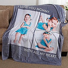 Picture Perfect 50-Inch x 60-Inch  Fleece 3-Photo Blanket