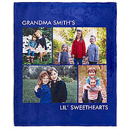 Picture Perfect 50-Inch x 60-Inch  Fleece 4-Photo Blanket