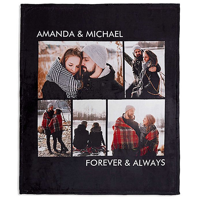 Alternate image 1 for Picture Perfect Fleece 5-Photo Blanket