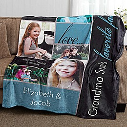 My Favorite Faces 50-Inch x 60-Inch  Fleece Photo Blanket
