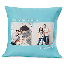 2-Photo Picture Perfect Square Throw Pillow