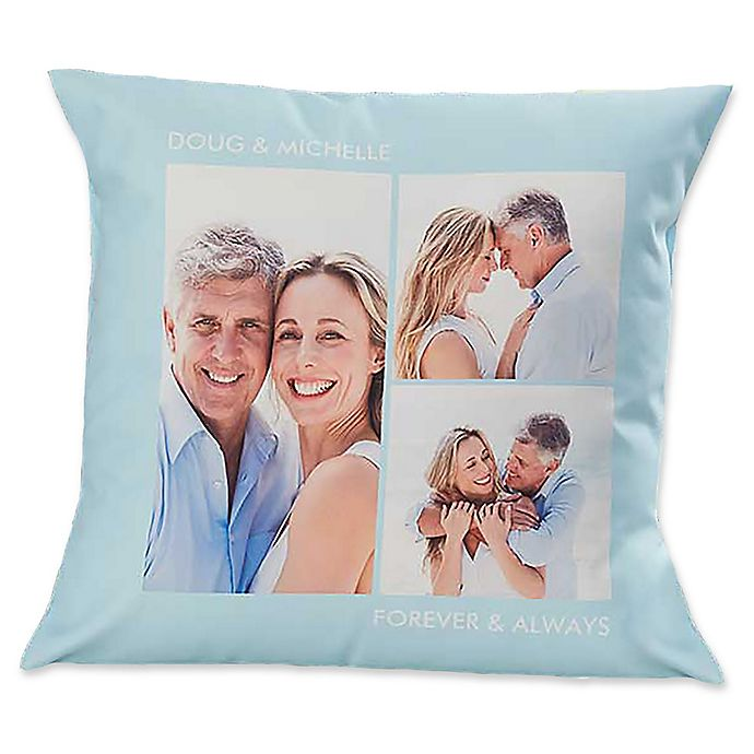 Alternate image 1 for 3-Photo Picture Perfect Square Throw Pillow