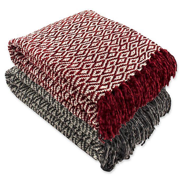Diamond Chenille Throw Blanket Bed Bath Beyond