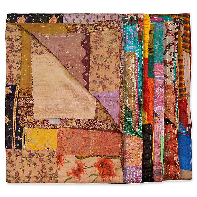 Alternate image 1 for Kantha Silk Throw