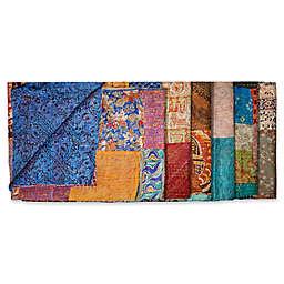 Kantha Quilted Silk Throw