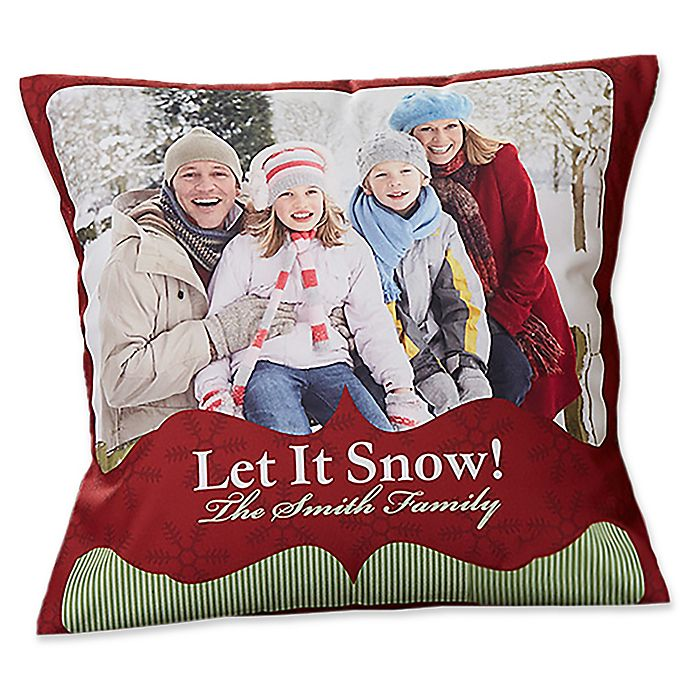 Alternate image 1 for Classic Holiday 14-Inch Photo Throw Pillow