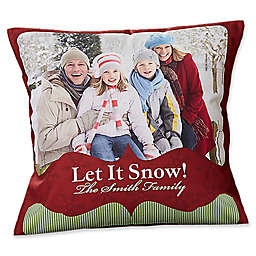 Classic Holiday 14-Inch Photo Throw Pillow