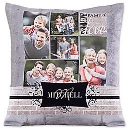 Family Memories Square Throw Pillow