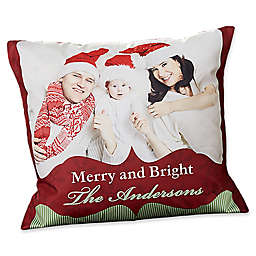 Classic Holiday 18-Inch Photo Throw Pillow