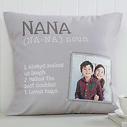 Definition of Grandma Square Photo Pillow dccf26bdd3