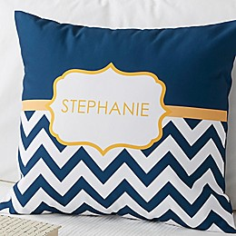 Preppy Chic 18-Inch Square Throw Pillow