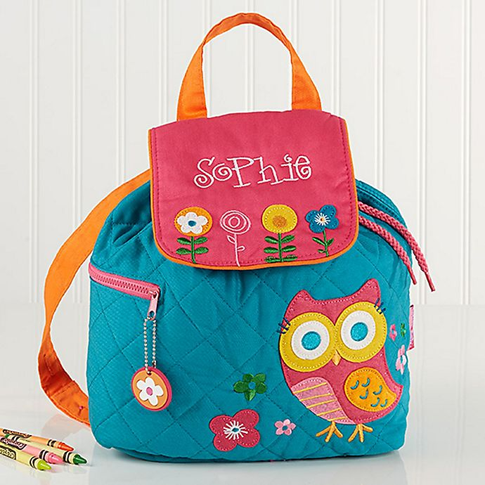 Alternate image 1 for Loveable Owl Embroidered Kids Backpack