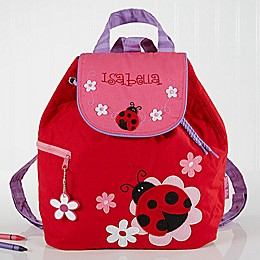 Ladybug Embroidered Kids Backpack
