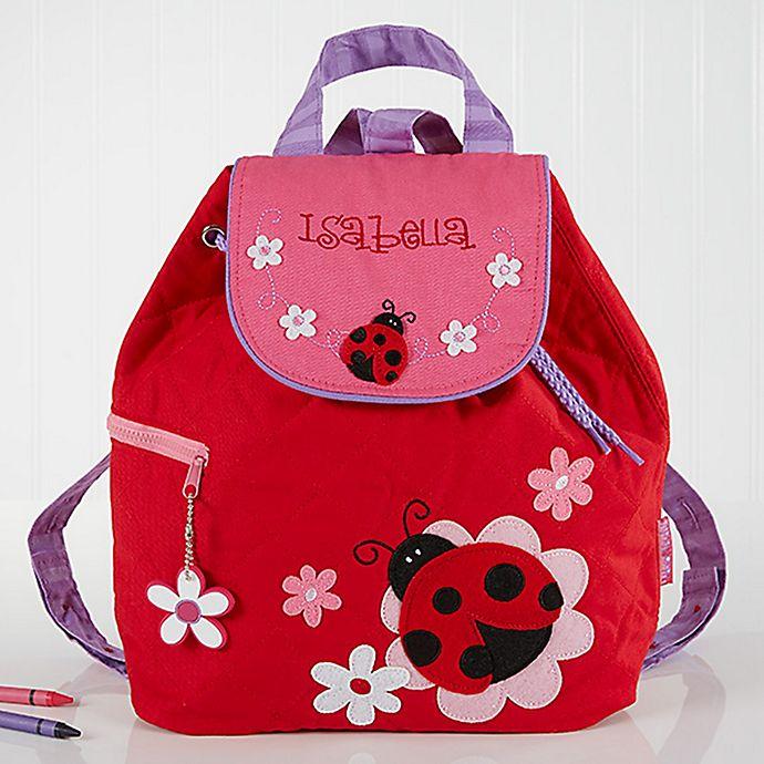 Alternate image 1 for Ladybug Embroidered Kids Backpack