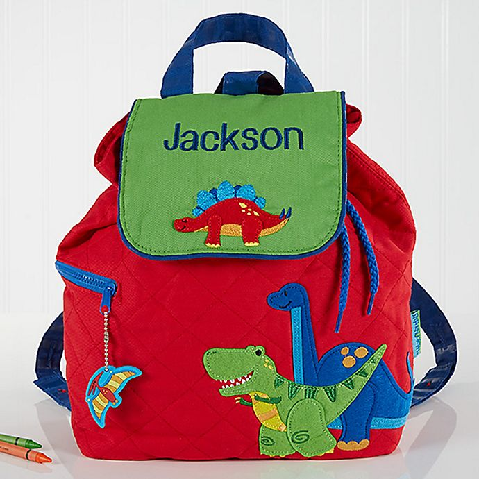 Alternate image 1 for Red Dino Embroidered Kids Backpack