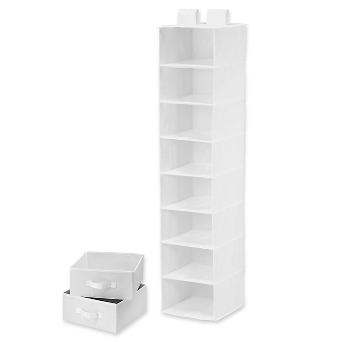 Alternate image 1 for Honey-Can-Do® 8-Shelf Organizer with 2 Drawers in White