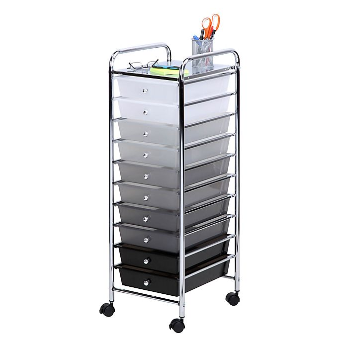 Alternate image 1 for Honey-Can-Do® 10-Drawer Shaded Storage Cart