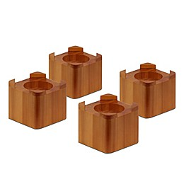 Honey-Can-Do® Wood Bed Lifts in Maple (Set of 4)