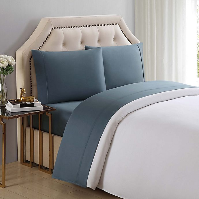 Alternate image 1 for Charisma® Solid 510-Thread-Count Full Sheet Set in Trooper Green