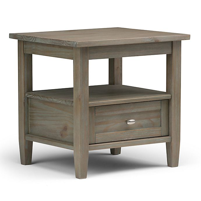 Simpli Home Warm Shaker 20 Inch End Table Bed Bath Beyond