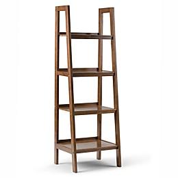 Simpli Home Sawhorse 72-Inch Ladder Shelf Bookcase