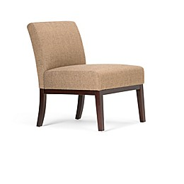 Simpli Home Upton Linen Look Upholstered Accent Chair