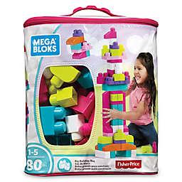 Mega Bloks Big Building Bag 80-Piece Building Set in Pink