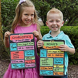 First Day of School Personalized Dry Erase Sign