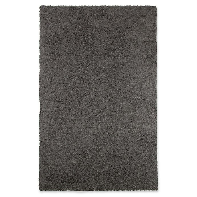 Alternate image 1 for Nottingham Home 5-Foot x 7-Foot 7-Inch Indoor/Outdoor Shag Area Rug in Charcoal