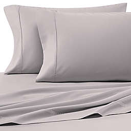 Heartland® HomeGrown™ 400-Thread-Count Solid Sateen Queen Sheet Set in Silver